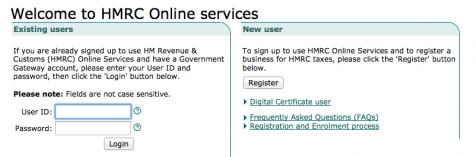 HMRC Online Services - online self assessment