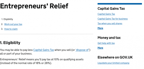Budget 2015 Entrepreneurs Relief